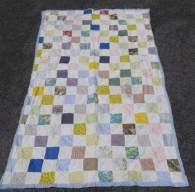 C. 1930 American hand made patchwork quilt cover