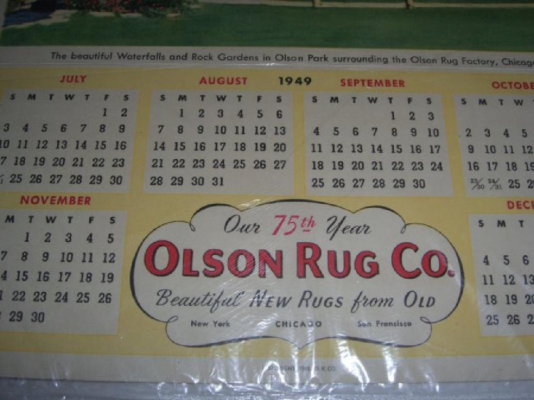 9 vintage advertising calendars - 2