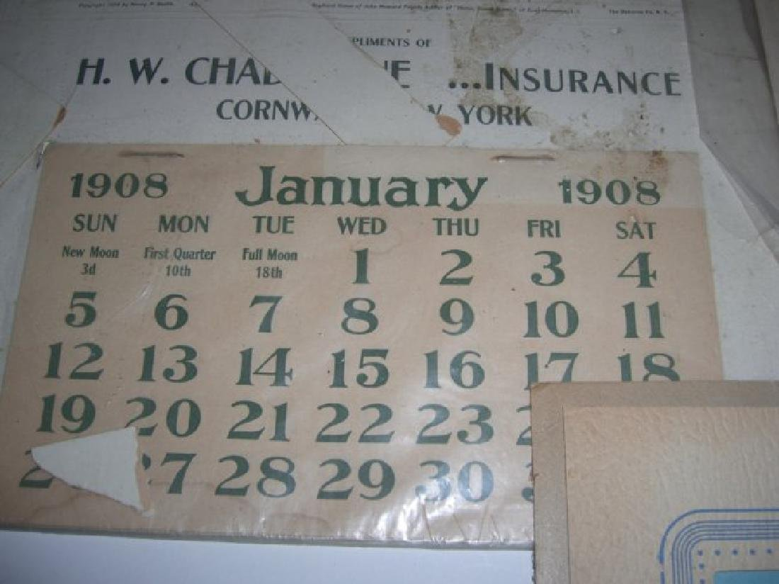 9 vintage advertising calendars - 3