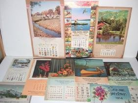 10 Assorted Salesman Sample Calendars