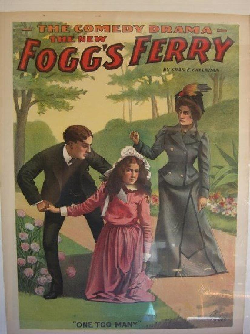 The New Fogg's Ferry lithographed poster