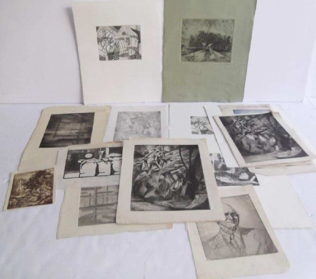 Collection of 21 pieces of artwork