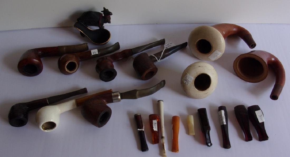 20 piece vintage pipe lot