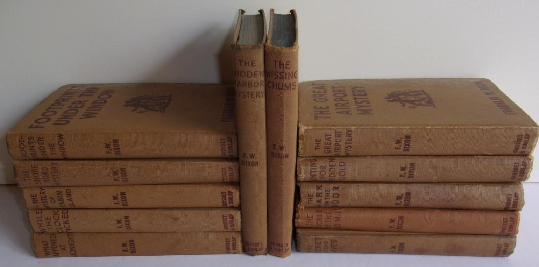 12 1930's Hardy Boys books