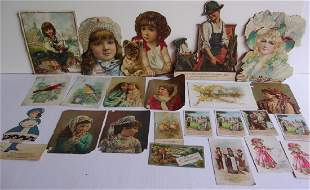 23 Victorian trade cards