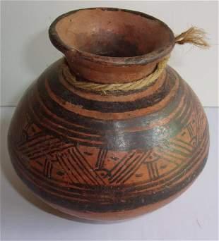 Native American pottery vase