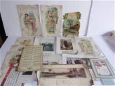 Collection of vintage  antique calendars