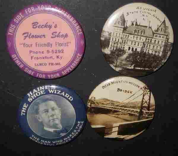 4 vintage advertising pocket mirrors