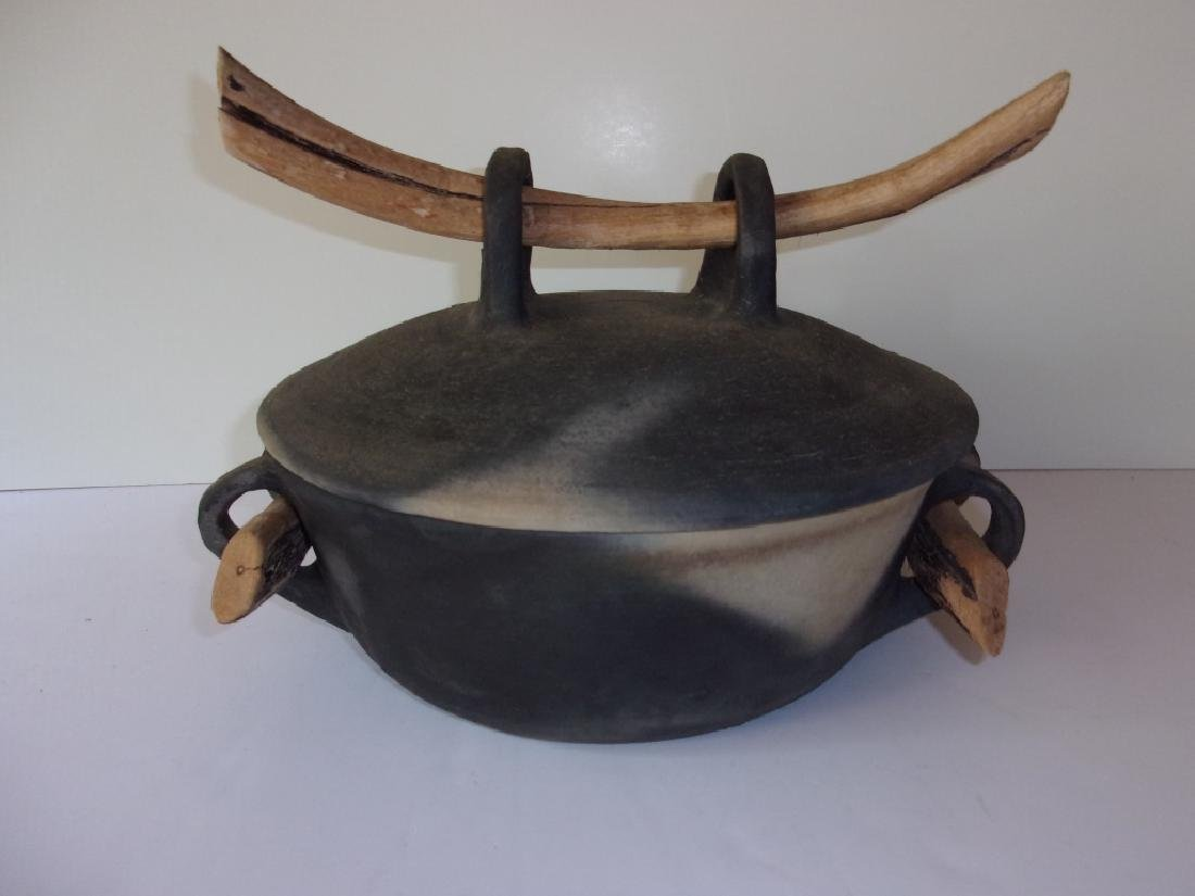 Contemporary Studio pottery covered pot