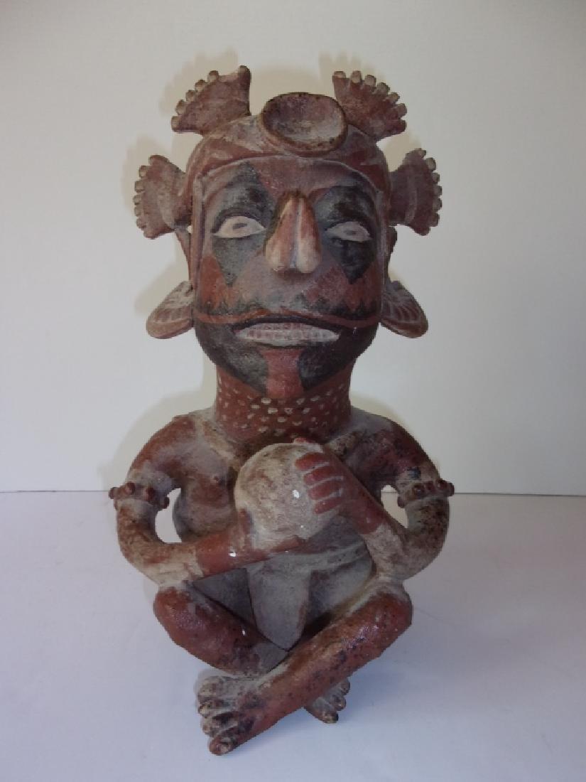 Vintage Mezzo American deity Pottery figure