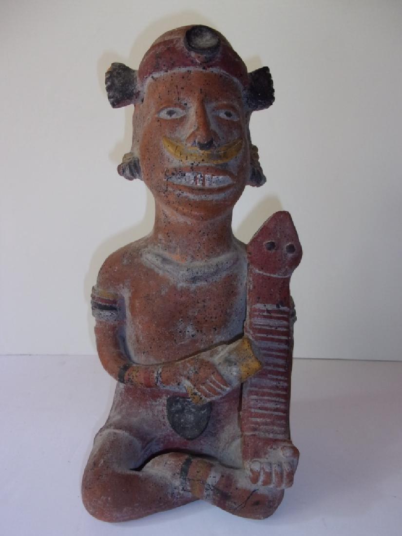 Vintage Mezzo American fertility  Pottery figure