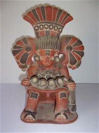 Vintage Mezzo American warrior Pottery figure