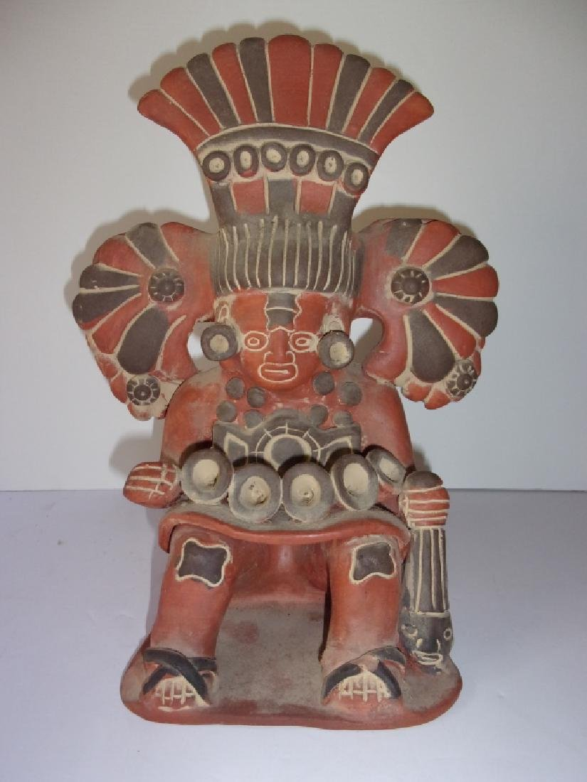 Vintage Mezzo American warrior Pottery figure