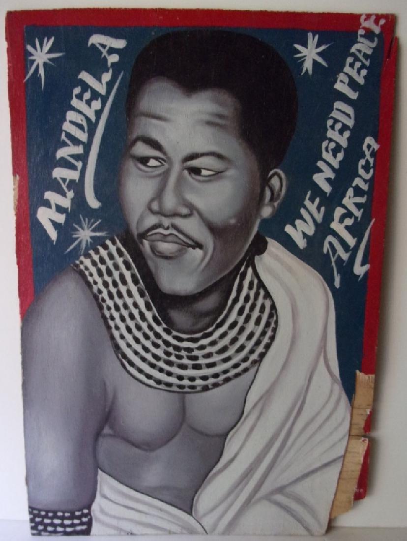 Original South African folk art Oil on board