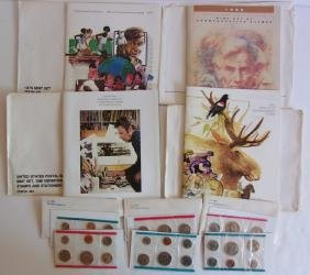 7 Piece Stamps & Coins Lot