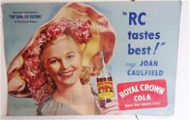 RC cola advertising sign