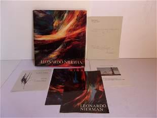 Original 1967 Leonardo Nierman signed art book