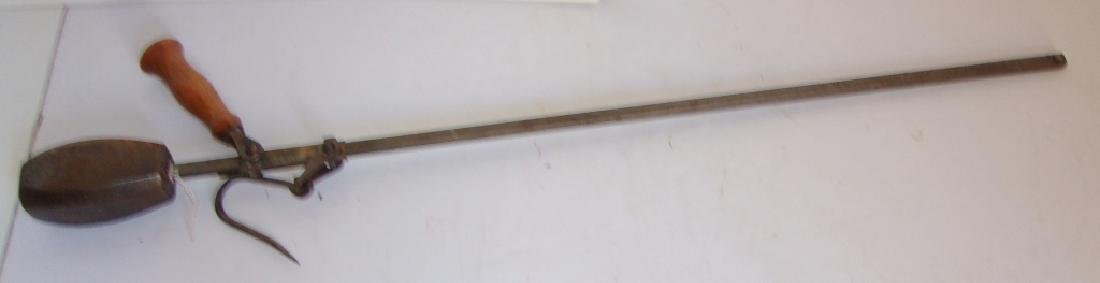 Large vintage beam scale