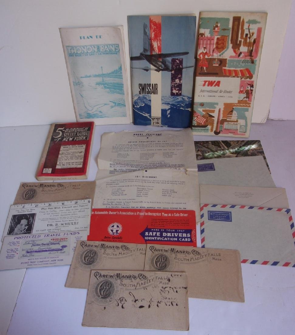 Assorted paper advertising lot