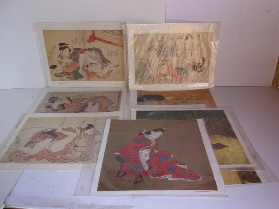 9 Japanese prints