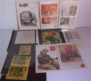 Collection of assorted advertising ads