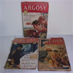 3 1930s Argosy weekly magazine