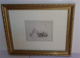 Original pencil drawing by Henry W Waugh