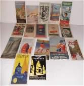 17 travel maps/brochures/pamphlets
