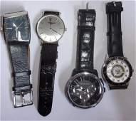 4 vintage men's wristwatches