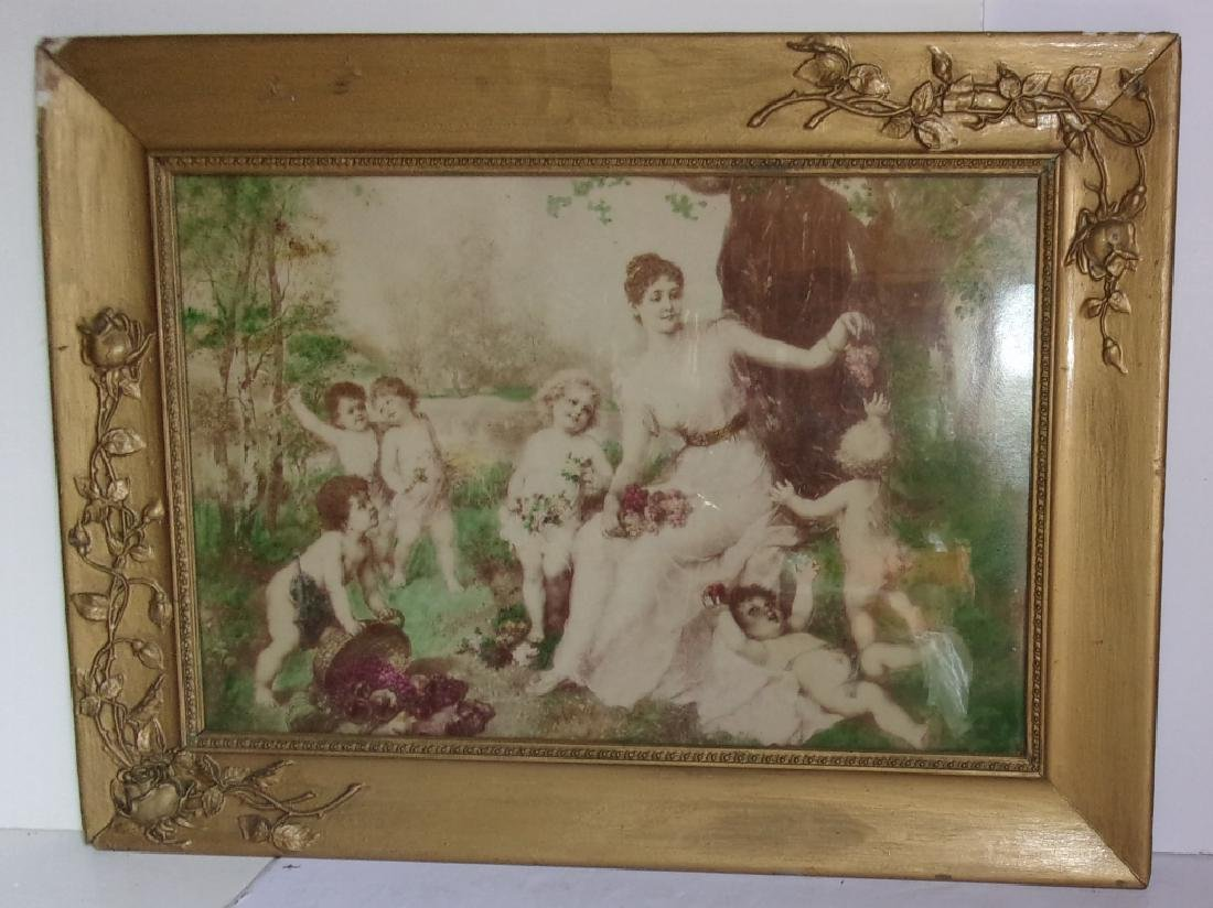 mother with children framed print