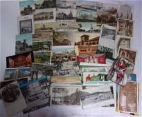 approx 100 antique and vintage postcards