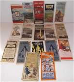 17 vintage travel maps/brochures/pamphlets