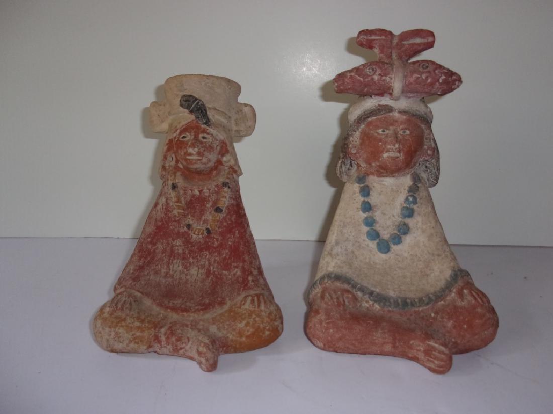 2 Vintage Mezzo American Pottery figure.