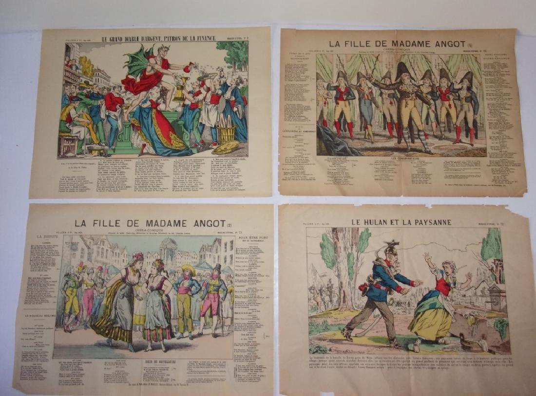 4 19th century French newspaper comics