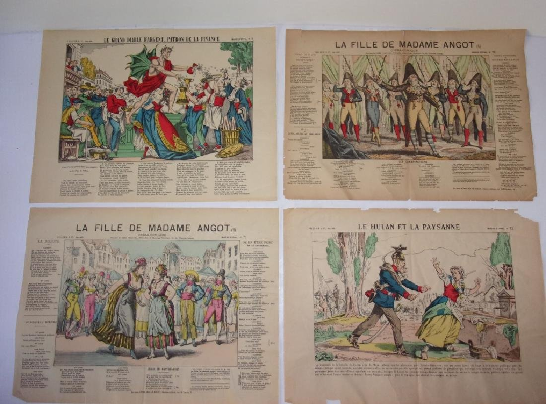 4 19th century French newspaper comics