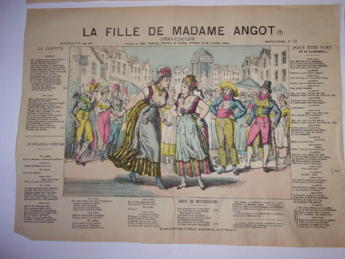 4 19th century French newspaper comics - 2