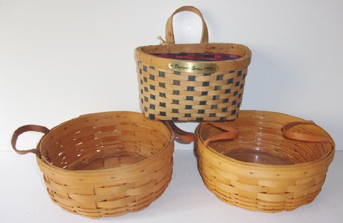3 baskets -  Longerberger and Designer series