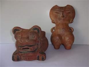 2 Vintage Mezzo American Pottery figures
