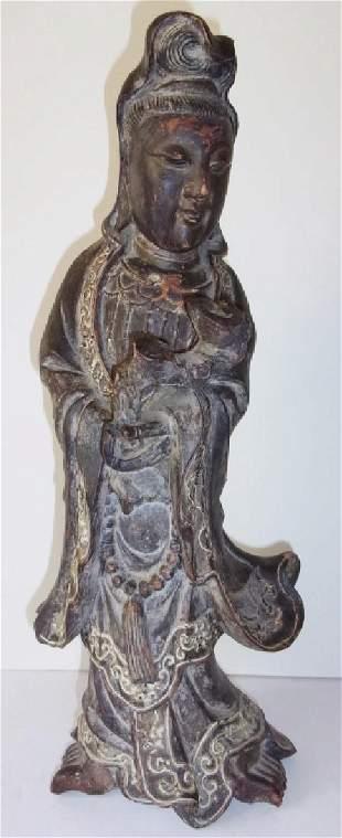 Vintage Asian QuanYuen pottery figure