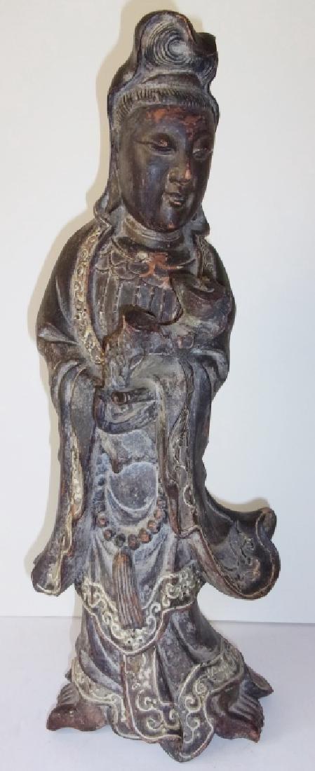 Vintage Asian Quan-Yuen pottery figure