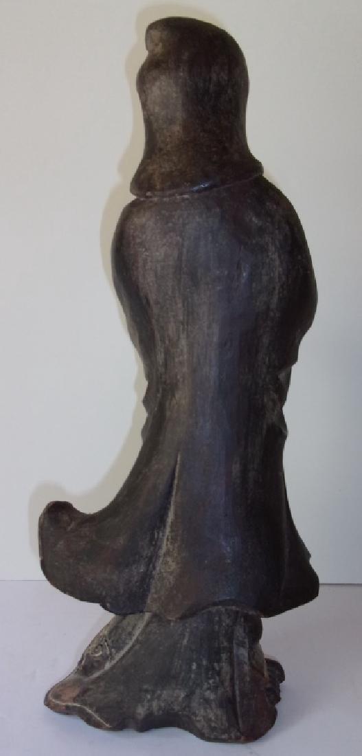 Vintage Asian Quan-Yuen pottery figure - 2