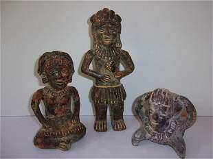 3 Vintage Mezzo American Pottery figures
