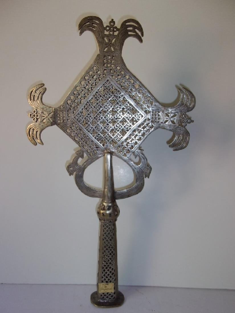 c.1920 Coptic Christian hand crafted cross