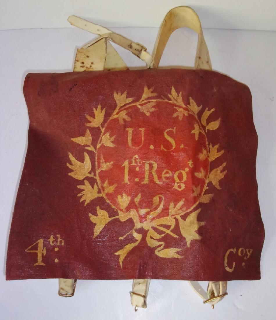Re-enactors U.S. 1st Regt., 4th Convoy knapsack