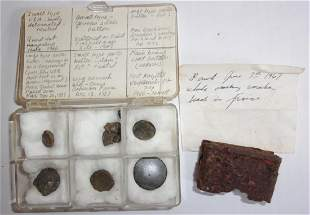 7 piece military dug items