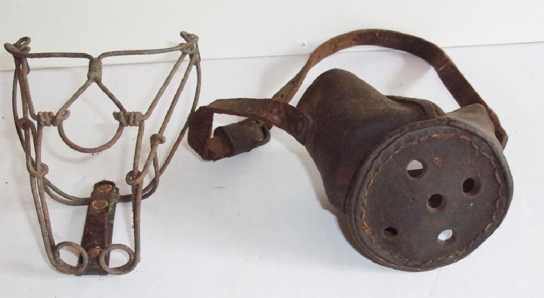 2 antique dog muzzles - 2