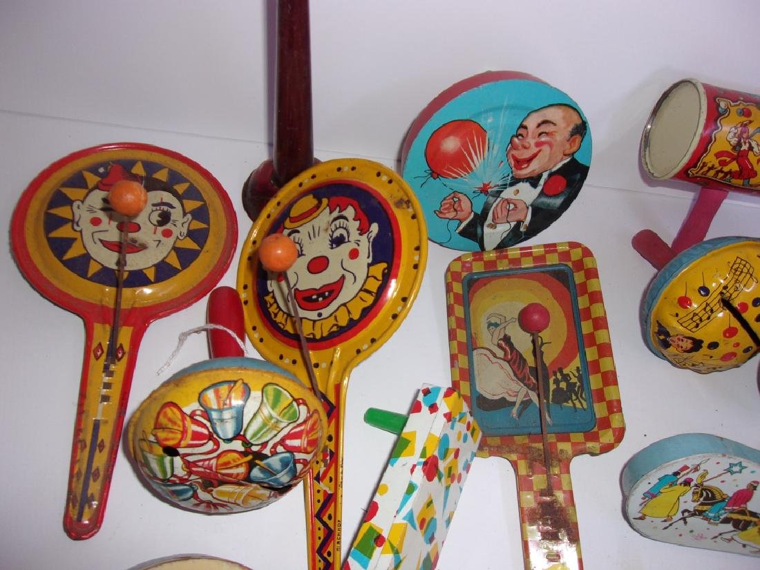 14 antique/vintage Halloween noisemakers - 2