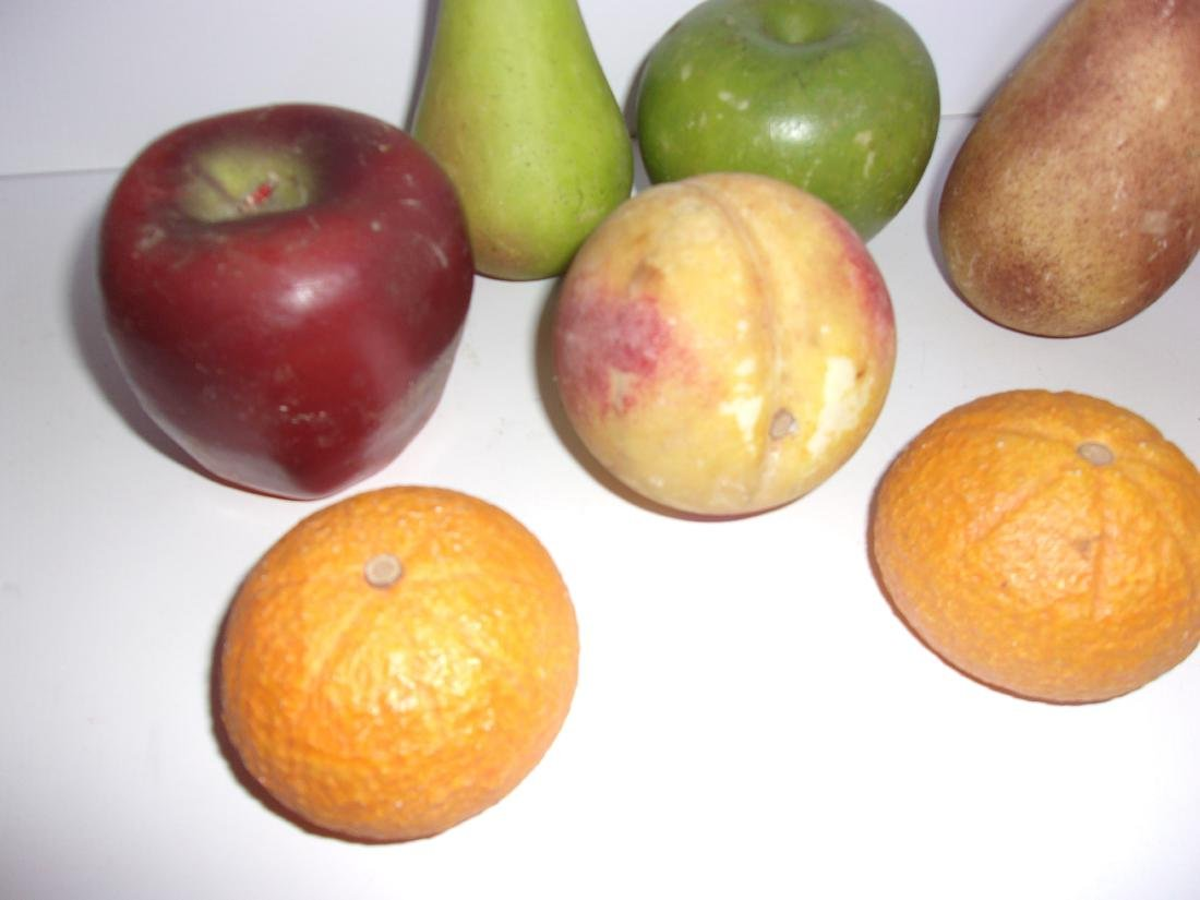 9 antique Chinese marble fruits - 2