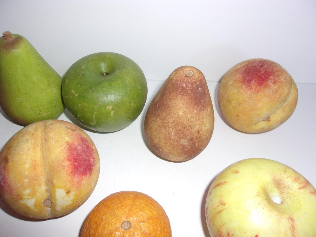 9 antique Chinese marble fruits - 3