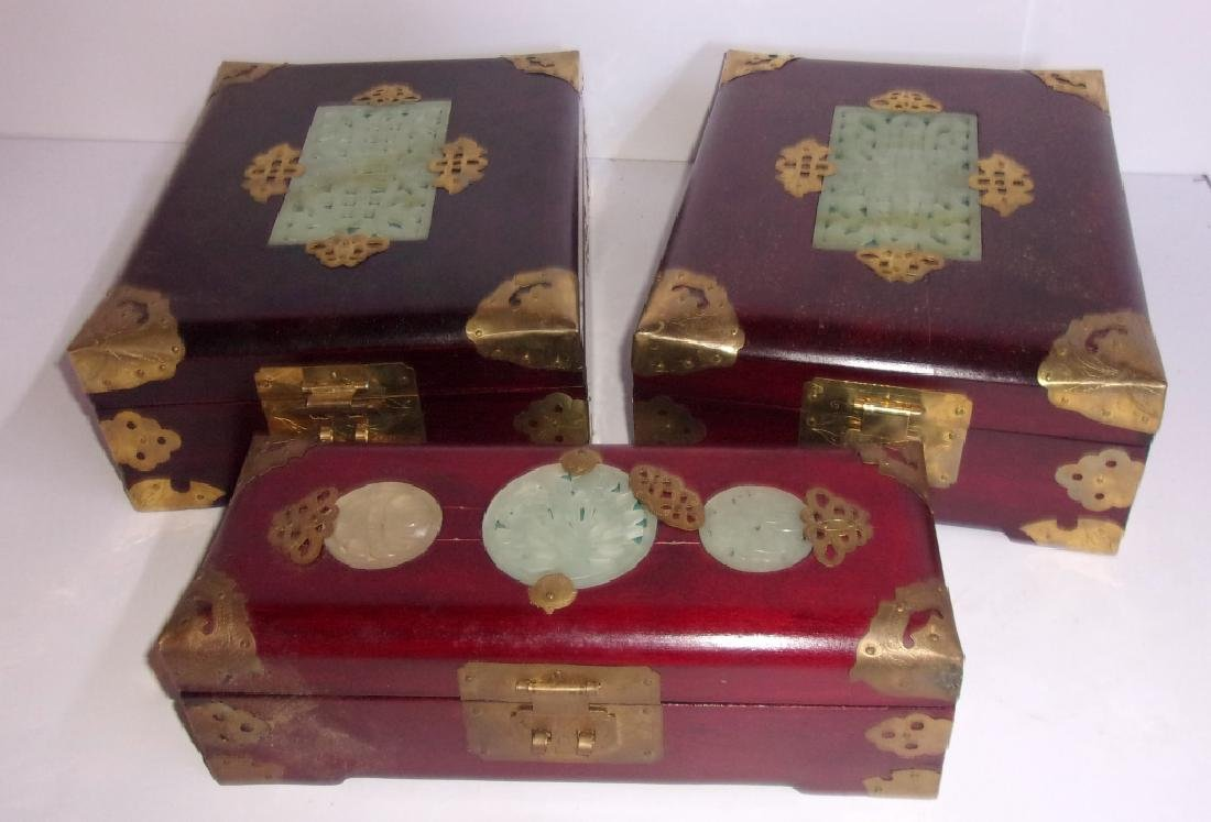 3 Chinese jewelry boxes